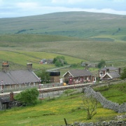 Garsdale Station on the Settle Carlisle Railway, located high in the Yorksire Dales National Park
