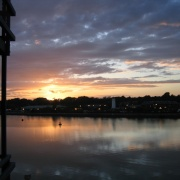 Sunset over Preston Dock-9 June 2004