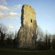 The last remaining tower of Bramber Castle, West Sussex