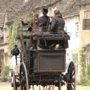 Film making at Lacock, Wiltshire
