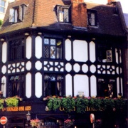 One of the many Coach & Horses in London.  This one is Mayfair, off New Bond St.