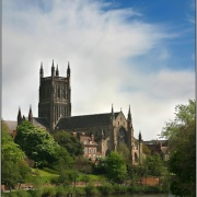 Worcester Catherdral & the River Severn at Worcester