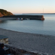 Early June evening - Polkerris harbour.