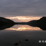 A beautiful scenic picture of Ullswater in May