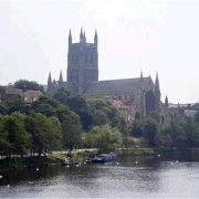 Worcester Cathedral & River from Severn Bridge