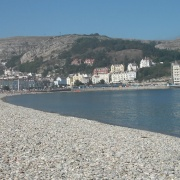 Llandudno beach and the great orme early in September 2005