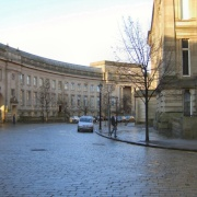 Le Mans Crescent in Bolton, Lancashire. Round the back of the Town Hall