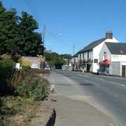 A view of the main street in Brixton 5 miles from Plymouth, Devon