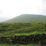 Pendle Hill - the peak from the road near Barley