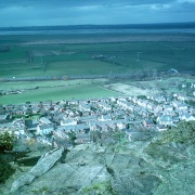Town of Helsby from atop of Helsby Hill, Cheshire U.K.