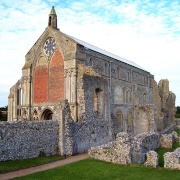 Binham Priory near Stiffkey and Wells-next-the-Sea.