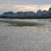 Low tide at Worthing, West Sussex