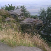 Beautiful rock formation on Helsby Hill.