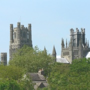 Ely Cathedral from the river Cam