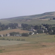 A view of Elsdon village in Northumberland. taken july 2006