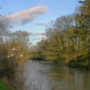 Quorn in Leicestershire. The river Soar