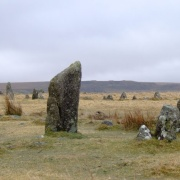 Merrivale rows also know as the Plague Market, - On Dartmoor