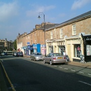 Blackburn road shops in Accrington, Lancashire