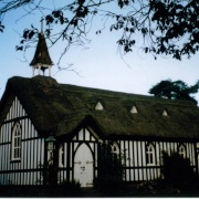The little thatched church at Little Stretton, Shropshire