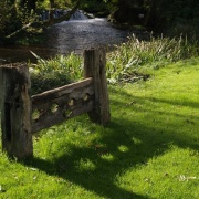 The village stocks, Glympton, Oxfordshire.