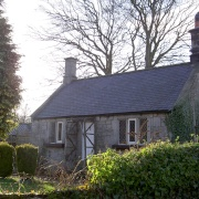 This is the well known Bridge End Cottage situated next to Thropton bride, Thropton, Northumberland
