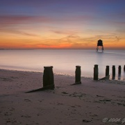 Dovercourt lighthouse at dawn, Essex.