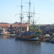 HMS Bark Endeavour, River Tees, Stockton-on-Tees, Cleveland, TS18.