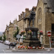 Benson's Monument at the top of Beaumont Street, Hexham, Northumberland.