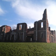 A picture of the remains of Houghton house, in Ampthill, Bedfordshire