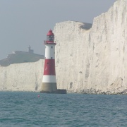 Beachy Head Lighthouse, Sussex coast, from a boat