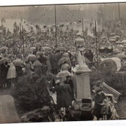Ferryhill market place 1945 - probably VE Day