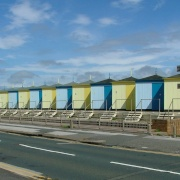 Old bathing huts at Cleveleys, Lancashire
