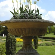 Urn in the Italian Garden at Belton House, Belton, Lincolnshire