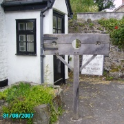 Village Stocks, Sticklepath, Devon