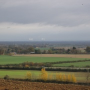 Didcot Power Station visible from Faringdon Folly