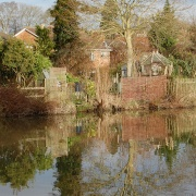 Reflection on the Kennett & Avon canal at Devizes