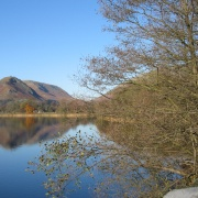 Grasmere looking north to Helm Crag.
