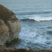 Incoming waves, Flamborough, East Riding of Yorkshire