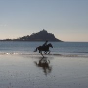 Early morning ride at Marazion