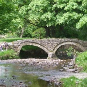 Old bridge at Wycoller hall
