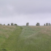 The Merry Maidens stone circle, near Lamorna, Cornwall
