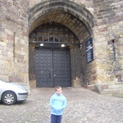 At he castle gates