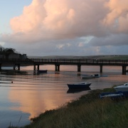 As the sun goes down on Fremington Quay