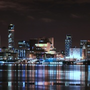 Liverpool sky line from Woodside Terminal