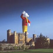 Hot air balloon at Leeds Castle, Kent