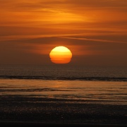 Sunset over Berrow beach