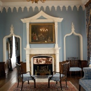 The blue drawing room.