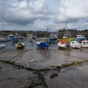 Newquay Harbour tide out