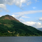 Lake Bassenthwaite from the west bank.