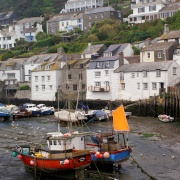 Polperro harbour.